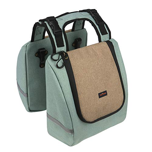 TOURBON Nylon Bicycle Bike Pannier Insulated Lunch Bag