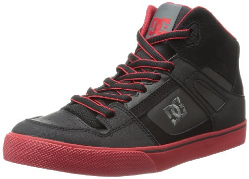 DC Shoes Jungen Spartan High B Shoe top, Rouge - Black/Dark Red, 4 UK Child