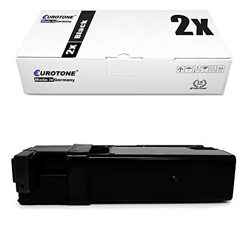 2X Eurotone Toner für Xerox Workcentre 6505 wie 106R01597 106R1597 Black