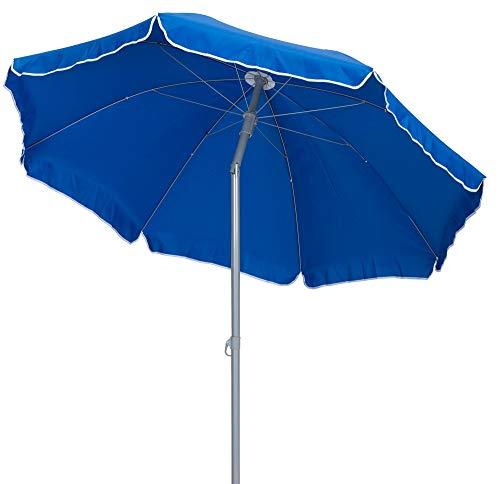 TrendLine Sonnenschirm blau Ø 180 cm UV-Schutz: 60+ Sonnenschutz Strandschirm