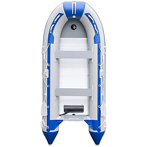 BZLLW Faltboot Gummiboot, Meer aufblasbares Kajak Schlauchboot Kanu Boot mit Rudern & Airpump for Angeln & LakePaddling & RiverFloating
