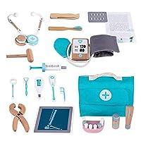 Per Pet お医者さんごっこ 木製 お医者さんセット 17点セット 木製おもちゃ 医者セットおもちゃ 医者道具おもちゃセット 医者道具おもちゃセット