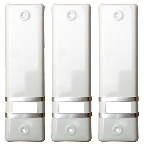 3x Rolladengurt Abdeckung Gurtwicklerblende | Weiß | 160mm | Ohne Gurtausbau