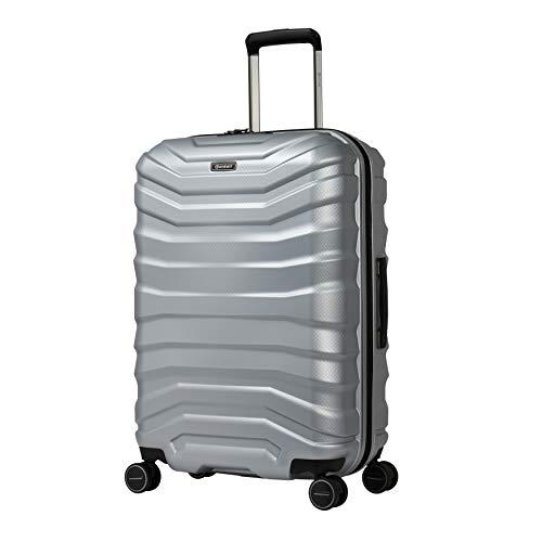 Eminent Handbagage Aero 65 cm 70L Lichtgewicht 4 dubbele stille wielen Zilver
