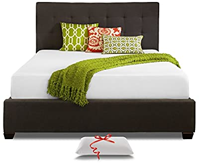 Live and Sleep - Resort Full Size 10-Inch Memory Foam Mattress in a Box and Memory Foam Pillow - Medium Firm for Better Comfort, CertiPur Certified (Full)