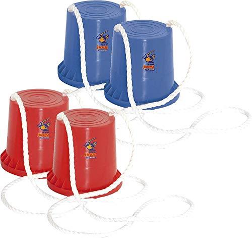 HUDORA 4 Topfstelzen, Rot/Blau