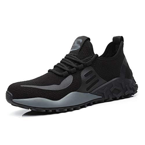 ZYFXZ Zapatos de Seguridad Los Hombres Volando livianos encendidos de Carrera Ligeros Mujeres Suave Transpirable Industrial Deporte Zapatillas Deportivas Zapatos de Seguridad (Color : B, Size : 40)