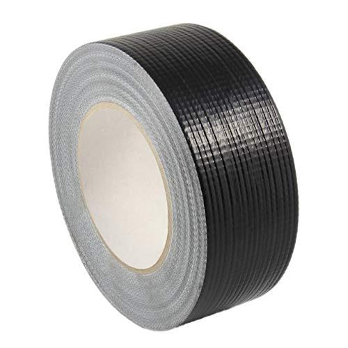 Gewebeklebeband stark klebend | Gewebeband aus PE | Handreißbar | Weiß, Schwarz oder Silber | 50 m | Breite wählbar | Panzertape/schwarz 19 mm x 50 m