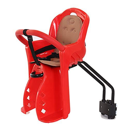 BTSECH Kindersitz für Mountainbike-Fahrräder vorne montiert Mountainbikes. Schnellverschluss-Fahrradsitz mit 360-Grad-Schutzzaun Geeignet für Kinder im Alter von 1 bis 4 Jahren-red