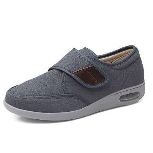 ZZLHHD Zapatos de rehabilitación para Ancianos después de la cirugía, Zapatos para Caminar para pies hinchados-47_Gray