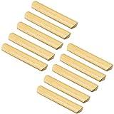 FBSHOP(TM) 10 pomos de madera con tornillos para cajón, armario, armario, aparador, tiradores de 160 mm