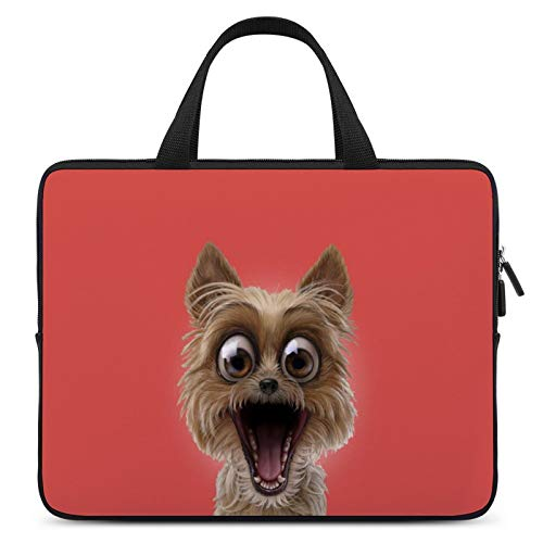 Laptop Carrying Bag,MacBook Handbag,Notebook Computer Sleeve Bag,12inch,Cover for Apple/MacBook/HP/Acer/Asus/Dell/Lenovo/Samsung,Color of Facial Expression Dog Cairn Terrier Yorkshire Terrier