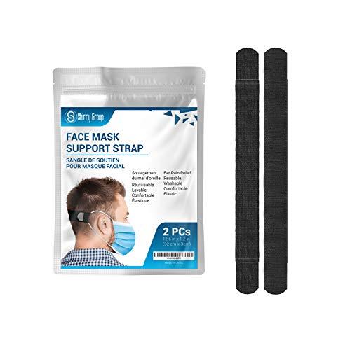 2Pcs Reusable, Adjustable, Comfortable & Elastic Face Mask Strap Extender for Ear Pain Relief