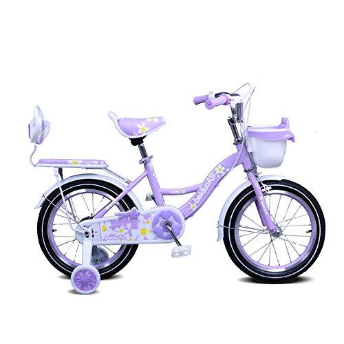Fenfen-cz Girls' Fahrrad 12/14/16/18 Zoll Kinderwagen Fahrrad (Color : Purple, Size : 18inch)