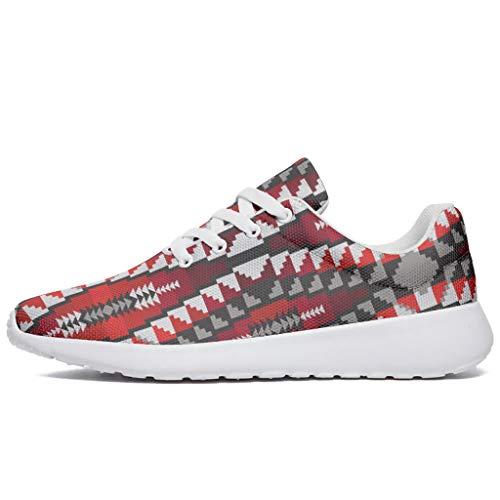 Zapatillas de deporte para hombre y mujer, de Egipto rojo, india, estampadas, zapatillas de fitness, caminar, entrenar, zapatillas de deporte, color, talla 44 EU