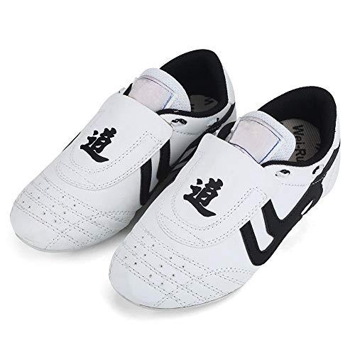 Zyyini Taekwondo Boxschuhe, Tai Chi Kongfu Schuhe Leichte atmungsaktive Karate Traning Schuhe für Männer Frauen (33内长20.8cm-33)