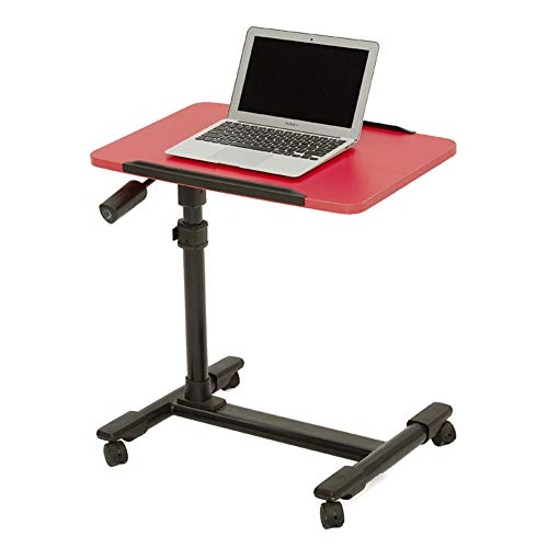 Furniturer mobile computer laptop supporto da scrivania regolabile angolo di carrello di portatile da tavolo con girevole nero top e rotelle//ruote