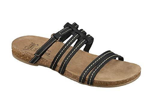 Feliz Caminar - Sandalia Piel Antideslizantes y Cómodas para Hombre y Mujer   Frescas para Vestir en Epocas de Calor Verano Primavera   Modelo Sana 7300   Talla 42   Color Negro