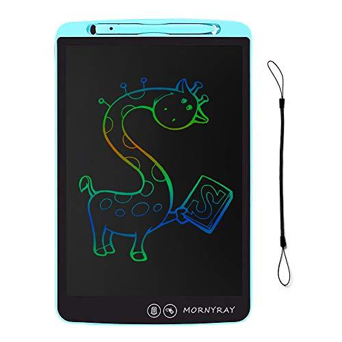 MORNYRAY Tableta de Escritura LCD Colorida 12 Pulgadas, Tableta Dibujo Infantil Grafica Pizarra Digital Electronica Niños con Borrado Parcial (Azul)