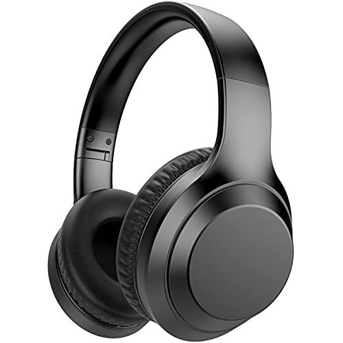 ML S HJDY Auricular Bluetooth,Auriculares Over Ear cancelación de Ruido con función Impermeable y micrófono Plegable Apto para Deportes,Negro