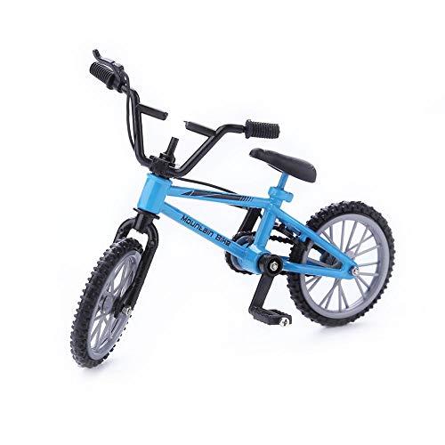 YHADX SkyBlue - Mini dedo para bicicleta de montaa de aleacin, soporte para dedo, para nios, juguete para disfrazarse