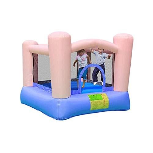 Wghz Castillos hinchables Castillo Inflable Patio de Juegos Juguetes Interior Pequeño trampolín Valla Casa de Juegos Paraíso para niños Regalo con Peso 135 kg, Multicolor
