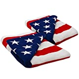 "Eternal Beach Collection American Flag Soft Towel 40""x60"" (Large, Beach Towel Set of 2)"