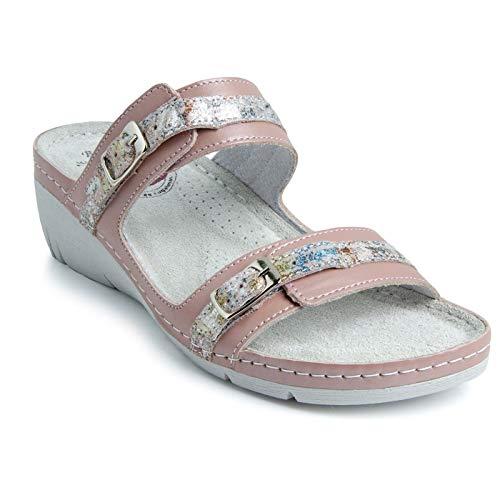 Batz DALMA Licht en Flexibel Handgemaakte Hoogwaardige Lederen Sandalen Klompen Muilezels Slippers Schoenen Dames