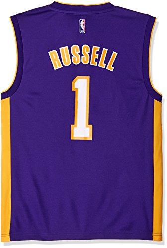 adidas NBA Los Angeles Lakers D 'Angelo Russell # 1Herren Replica Jersey, Herren, 7818-Men-Road, Road, Large