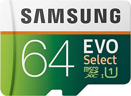 Samsung 64GB 80MB/s EVO Select Micro SDXC Memory ...