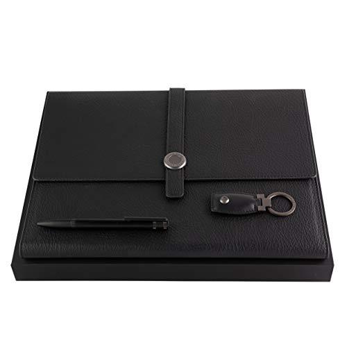 HUGO BOSS Set CRAVATE bolígrafo, portadocumentos A4 y llavero en estuche de regalo