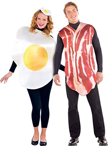 amscan 2 trajes de pareja, jamón y huevo, multicolor, talla media/grande (844276) , color/modelo surtido