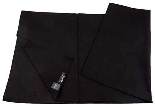 TigerTie Damen Nickituch Halstuch in schwarz einfarbig Uni - Tuchgröße 60 x 60 cm - 100% Baumwolle