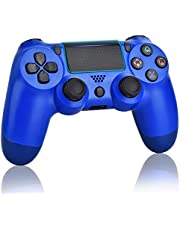 Juego Game Controller voor PS4, draadloze controller voor Playstation 4 met Dual Vibration Game Joystick, Blue (Wave Blue)