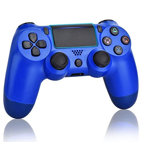 OUBANG Controller Wireless Gamepad per PS4, Controller Joypad Senza Fili di Gioco Playstation 4 PRO con Doppia Vibrazione, Blu (Wave Blue)