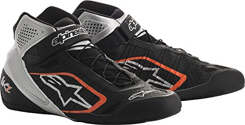 Alpinestars Kartschuh TECH-1 KZ Shoe Kart Shoe Black-Silver-orange Gr. 8,0 (US8,0) Gr. 40,5