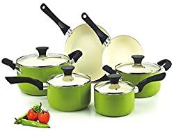 Cook N Home Non-Stick Ceramic Coating 10 Piece Cookware Set