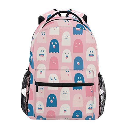 School Backpack Cute Ghosts Spectres Bookbag for Boys Girls Travel Bag