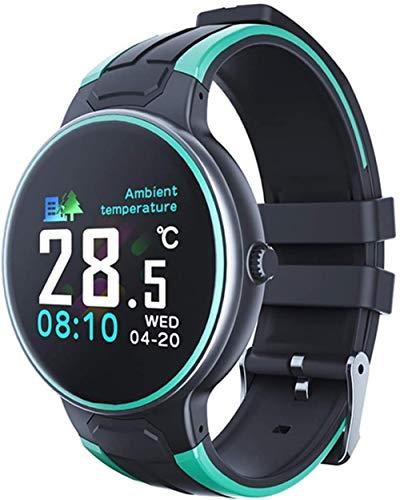 Moda Z8S Reloj inteligente con termómetro ritmo cardíaco seguimiento de la salud impermeable hombre y mujer Relojes deportivos para Android 4.4 y superior Ios8.5 o superior Exquisite-B