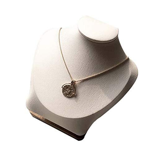 Halskette Büste Schmuck Display Stand Abbildung Schmuck Display Stand Halskette Show Neck Modell, Geeignet Für Niedrige Vitrinen