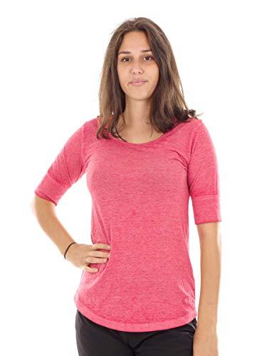 CMP Femmes Maillot Sportswear A Mezze Maniche en Cotone Brûler Dehors Jersey Tee-Shirt - Rose Vif, 38