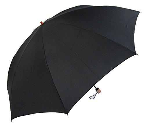 丈夫な8本骨 昔ながらの2段式 60cm 折りたたみ傘 Lサイズ (黒)