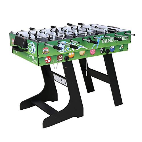 homelikesport Gioco da Tavolo 4 in 1 per Hockey, Biliardo, Calcio Balilla, Ping Pong/Ping-Pong, Verde, 121,5 * 61 * 81,3 cm