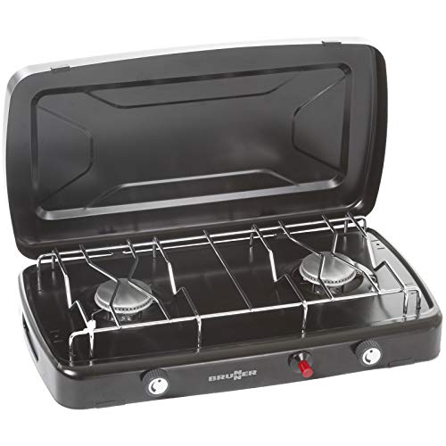 BRUNNER Gaskocher Phoenix Camping Kocher BBQ Tisch 2-flammig Brenner 2 x 1200 W