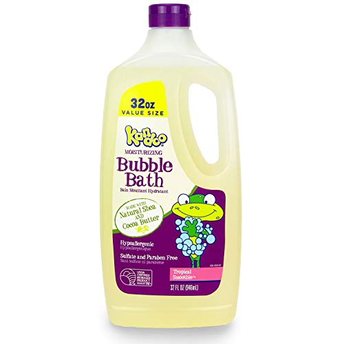 Kandoo Moisturizing Kids Bubble Bath with Shea and Cocoa Butter, Tropical Smoothie Scent, 32 Fluid Ounce