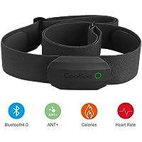 CooSpo Frecuencia Cardíaca Bluetooth Banda Monitor Sensor de Frecuencia Cardíaca Deportivo Ant+ para Garmin Wahoo Suunto Polar UA Run
