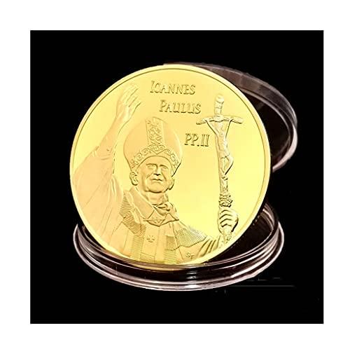 JXS Imperatore cattolico Romano del Vaticano, Italia, Emblema commemorativo di San Giovanni Paolo II in Lega di Zinco, Collezione di Monete 5 Pezzi
