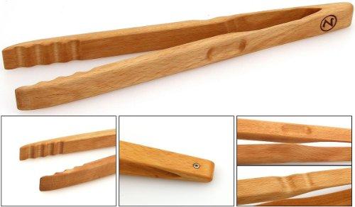 Zetzsche Grillzange–Küchenzange 30cm lang aus Buchen Holz, Made in Germany