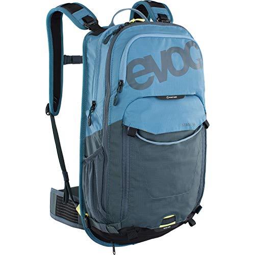 EVOC STAGE 18 technischer Tagesrucksack für Radtouren und Trails (riesiger Stauraum, durchdachtes Taschenmanagement, maximale Rückenbelüftung, verstellbare Schultergurte), Copen Blau