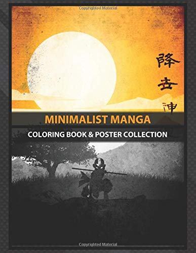 Coloring Book & Poster Collection: Minimalist Manga Avatar The Last Airbender Aang Anime & Manga